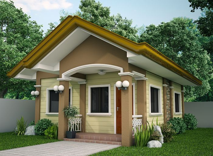 Marvelous Elvira Is A Small House Plan With Porch Roofed By A Concrete Deck Largest Home Design Picture Inspirations Pitcheantrous