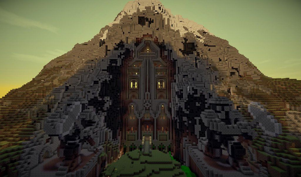 Erebor Minecraft Mountain House Minecraft Construction