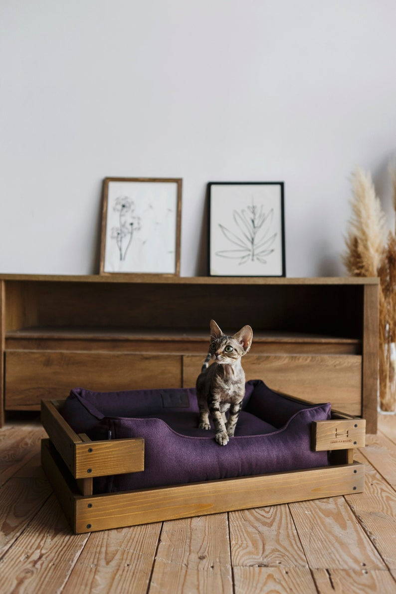 Cat Bed Wood Cat Bed Canvas Cat Bed Design Cat Bed Ink Nature Cat Bed Kitty Cat Bed Cats Bed Removable Cover Rustic Cat Bed Cat Bed Modern Cat Bed