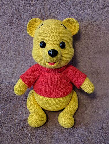 Amigurumi Crochet Winnie the Pooh Free Pattern - Amigurumi Free ... | 500x378