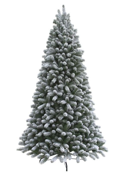 10 Foot King Flock Artificial Christmas Tree With 1250 Warm White Led Lights Lights Flocked Artificial Christmas Trees Artificial Christmas Tree Flocked Christmas Trees