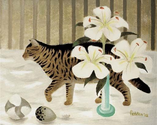 Mary Fedden (1915 - 2012, British   cats, cats, cats ...