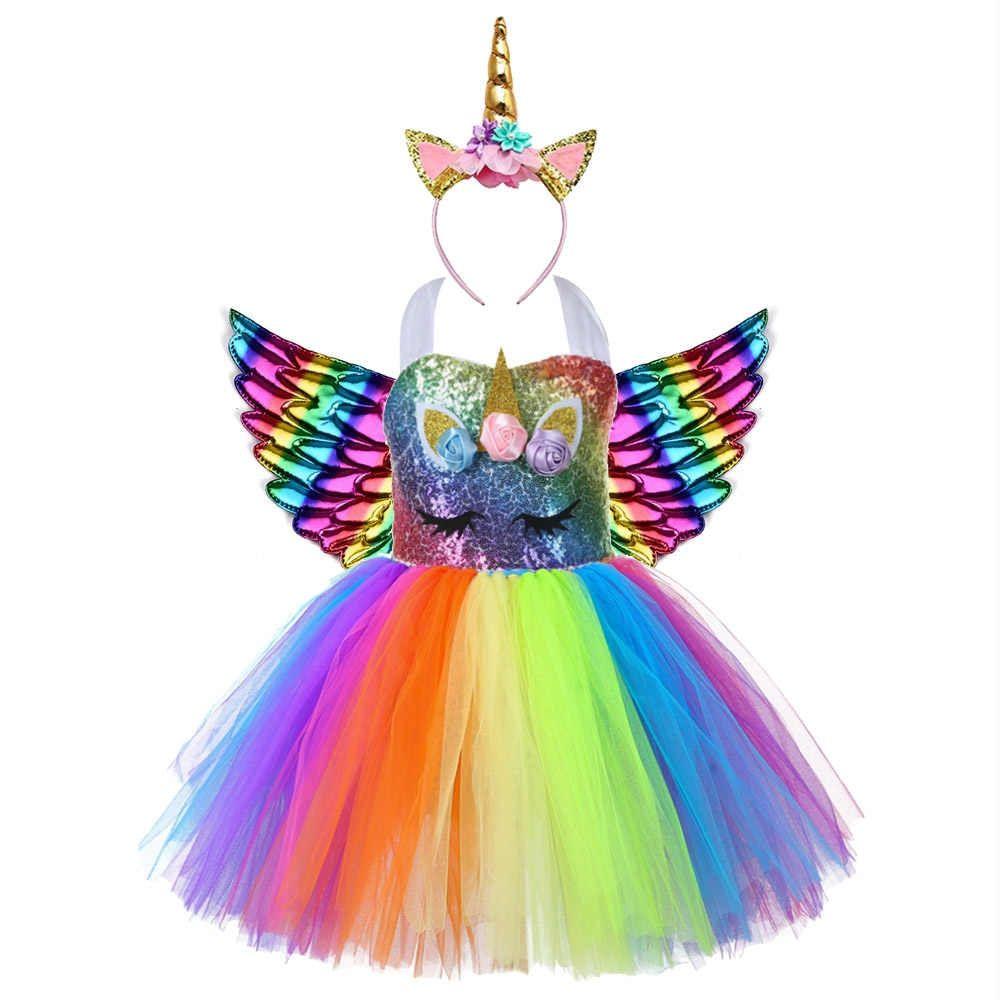 Vestido De Unicornio Con Lentejuelas De Arcoíris Para Niña Bonito Tema De Unicornio Para Fiesta De Cumpleaños Ropa De Bebé Vestidos Aliexpress Vestidos De Bebé De Navidad Vestidos De Navidad Para