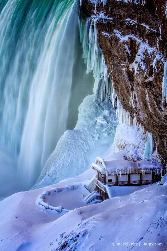 David Edwards On Waterfall Winter Scenery Winter Scenes