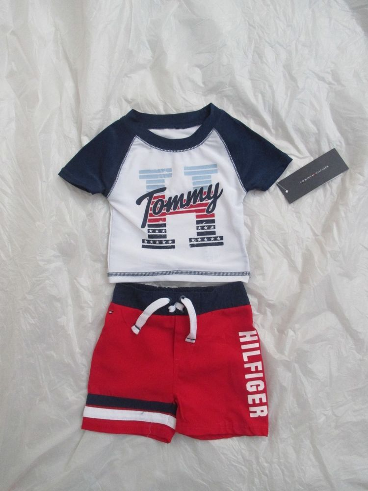 7ca3d8654228 Size 3 6M Tommy Hilfiger Boys 2 Piece Swimwear 61A92022-99 Assorted  MSRP 44.50…