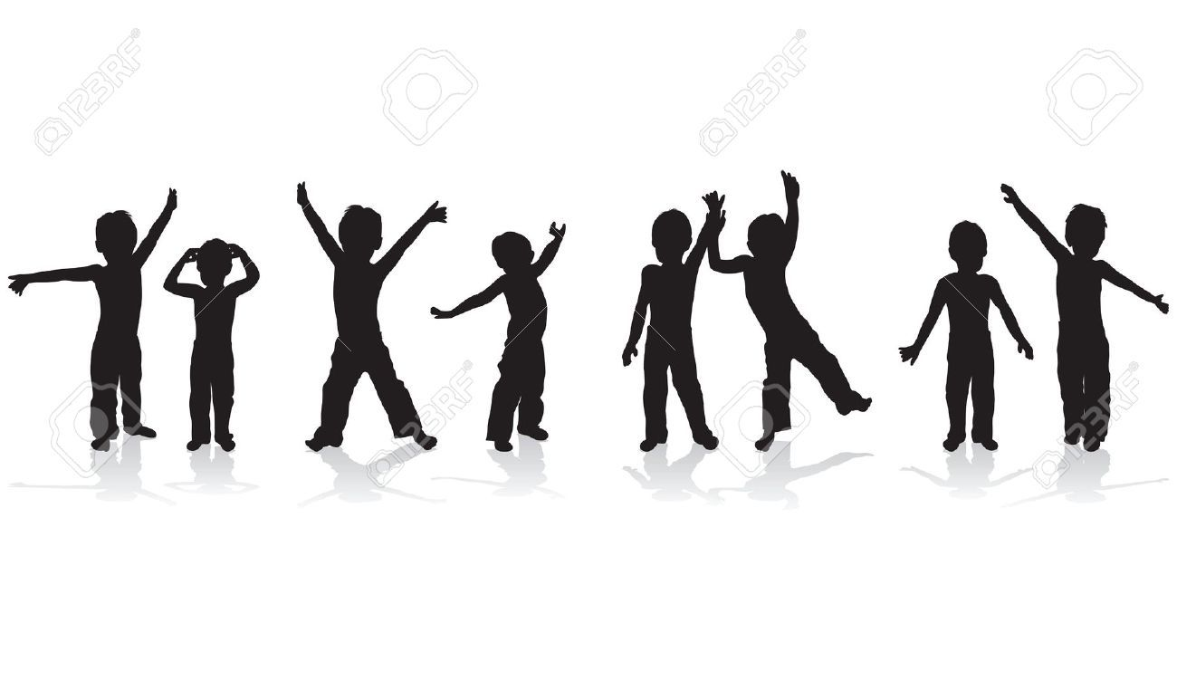 kids playing cliparts stock vector and royalty free kids playing
