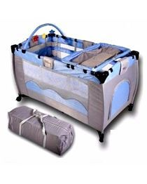 Baby Cot With Toys Blue Baby Bed Baby Cot