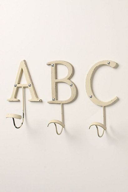 Letter Hooks Anthropologie Got Them And Now Have Two X An