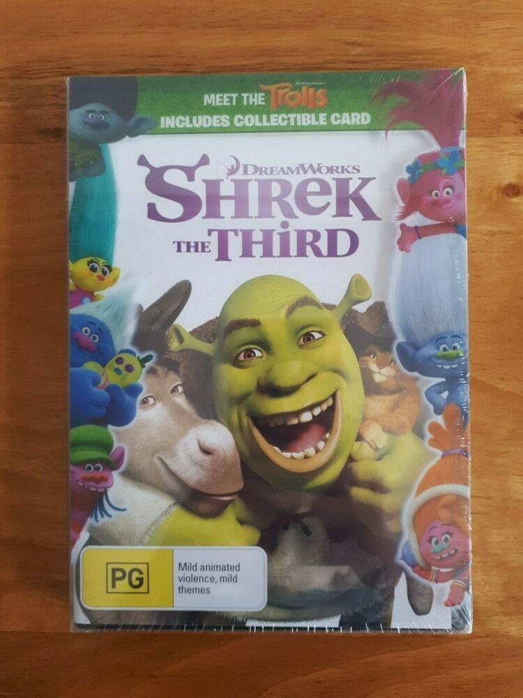Shrek The Third Dvd Pal New Shrek Shrek Dreamworks Pals