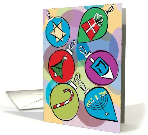 Interfaith holiday ornaments greeting card universe by interfaith holiday ornaments greeting card universe by mixedblessings m4hsunfo