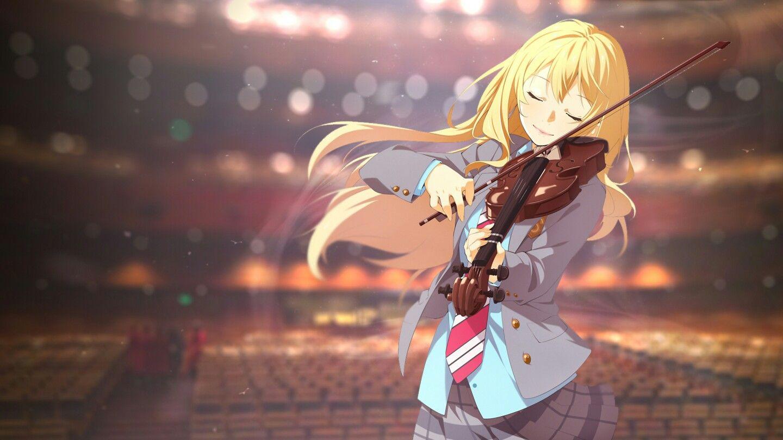 Miyazono Kaori Gadis Animasi Seni Anime Gambar Anime