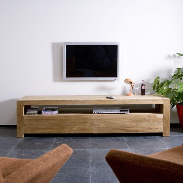 Meuble Tv Double Teck Ethnicraft Mobilier De Salon Deco Salon Deco Maison