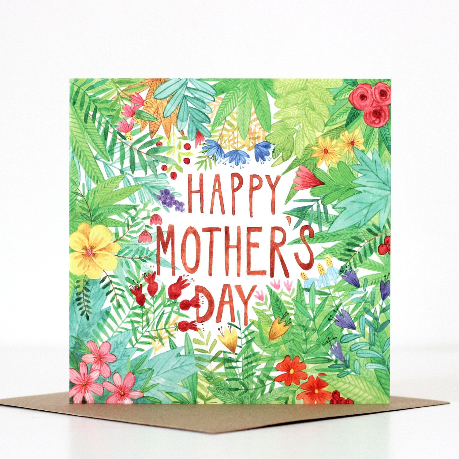 Mothers day greeting card floral illustration thank you card items similar to mothers day greeting card floral illustration thank you card on etsy m4hsunfo