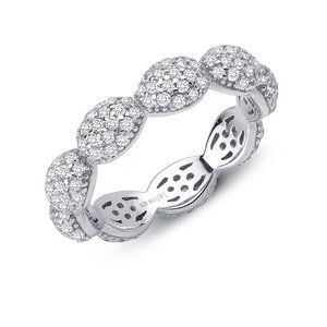 Lafonn Dot Ring SIMULATED DIAMOND STERLING SILVER BONDED WITH PLATINUM