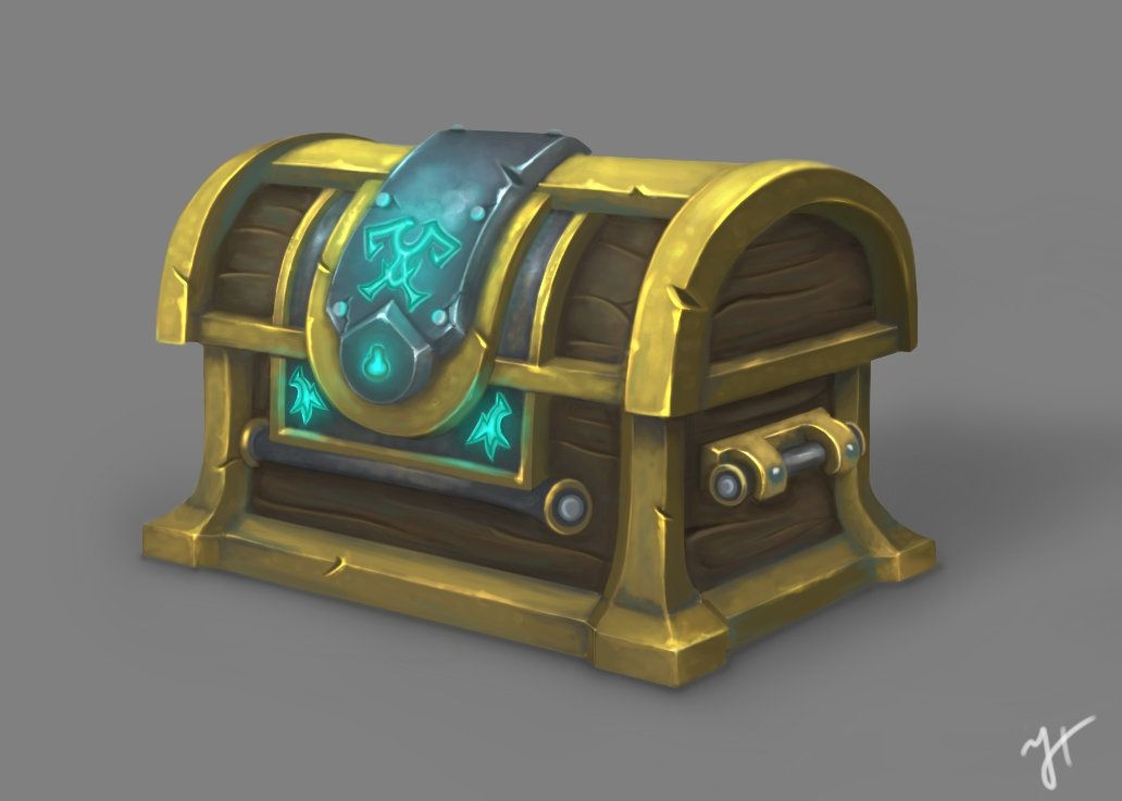Fantasy Treasure Chest Concept Art
