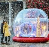 World's Largest LEGO Snow Globe
