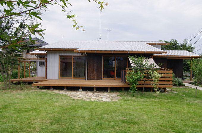 平屋のリフォーム リノベーション費用相場 施工事例 おしゃれな外観実例などもご紹介 平屋外観 平屋の家 和風の家の設計