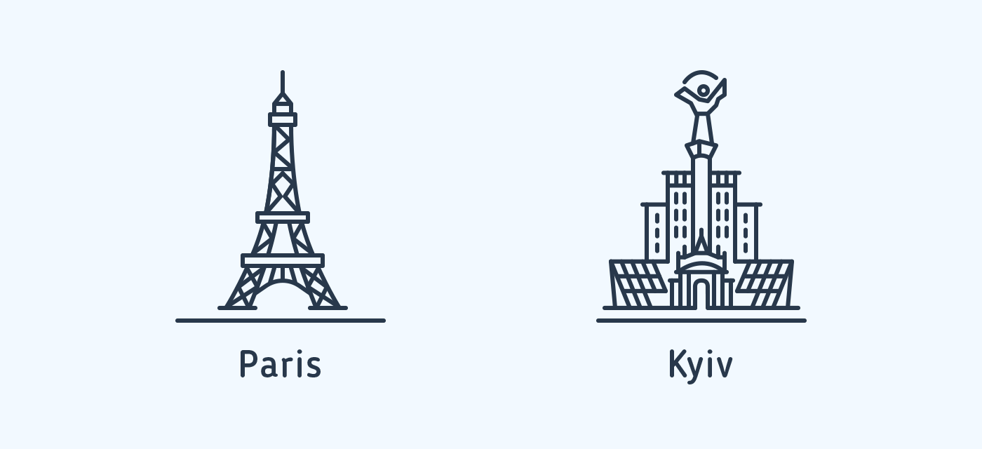 The linear icons collection for the international web