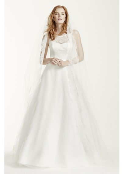 4924c9678 Illusion Lace Tank A-Line Gown with Tulle Skirt WG3711 | David's Bridal