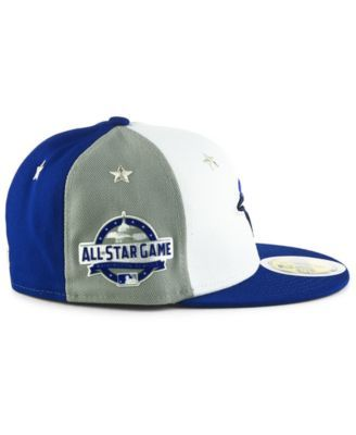 buy popular 48ce0 649eb New Era Boys  Toronto Blue Jays All Star Game Patch 59FIFTY Fitted Cap 2018  - Blue 6 5 8