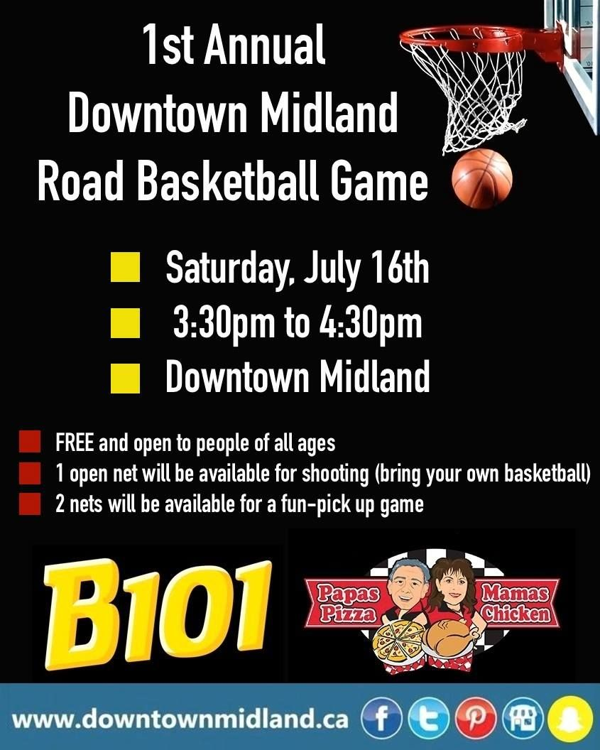 In case you haven't heard yet.   www.facebook.com/events/126751601081724  #DMRoadBasketball2016 #DowntownMidlandON