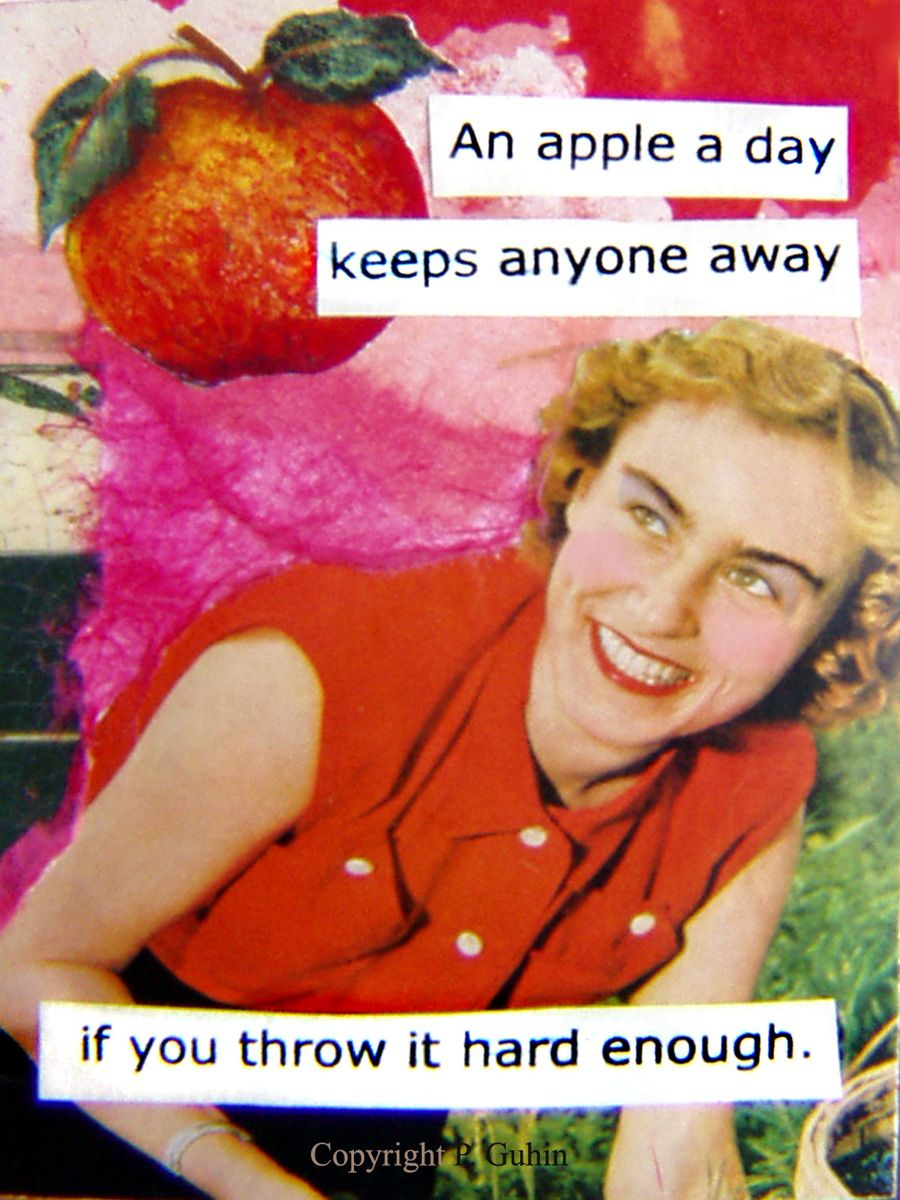 An apple a day keeps anyone away - if you throw it hard enough!