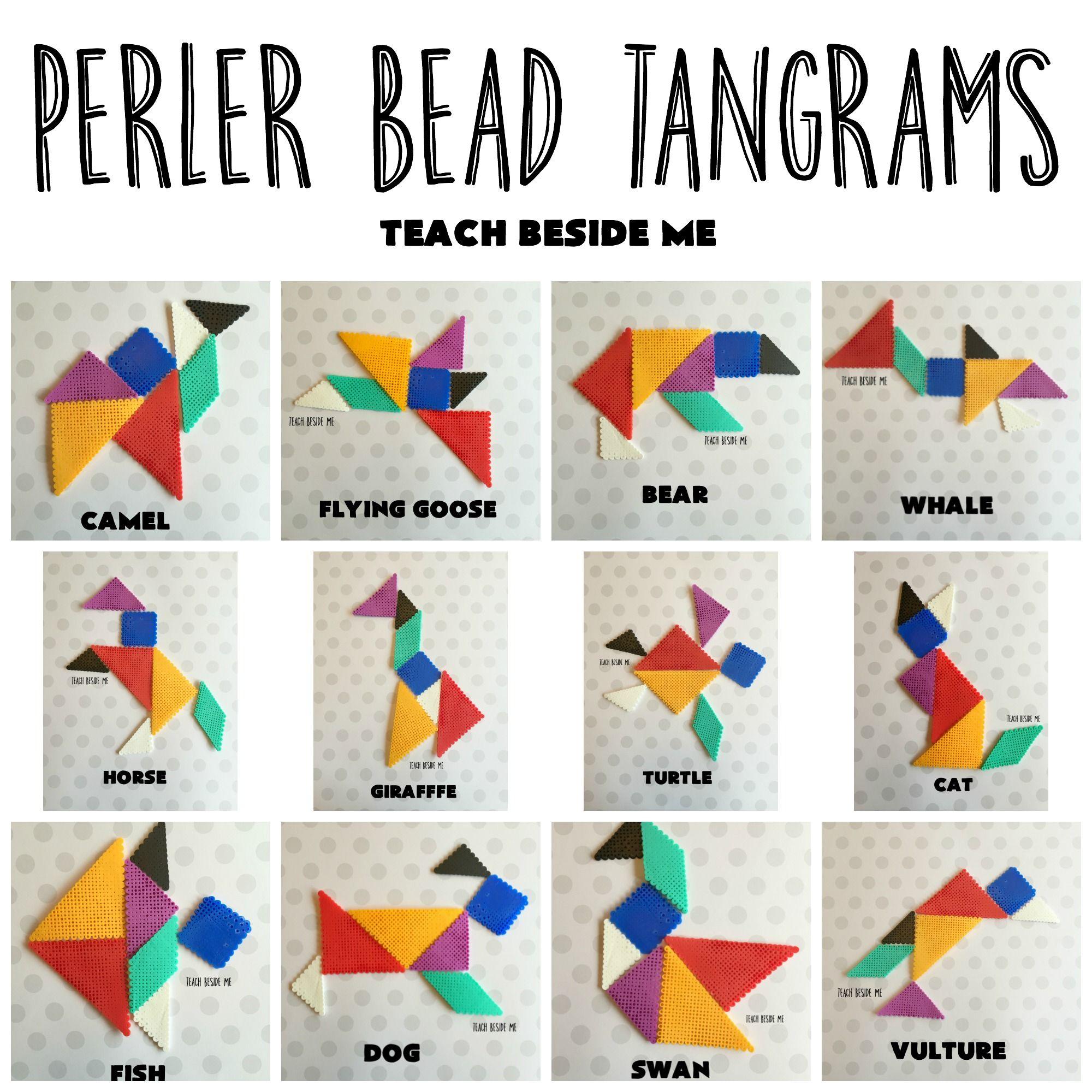 Perler Beads, Teaching Shapes, Kids