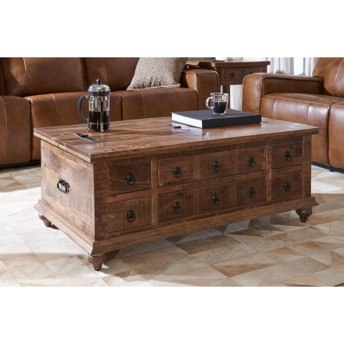 Ellis Trunk Coffee Table Value City Furniture And Mattresses Coffee Table Coffee Table Trunk Chest Coffee Table [ 1170 x 1170 Pixel ]