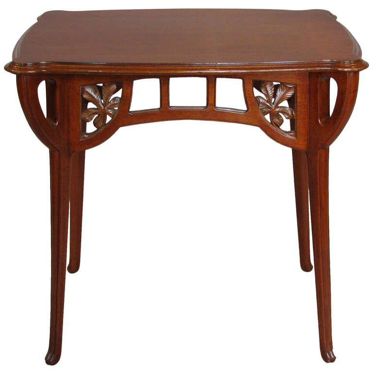 Beau Art Nouveau Table Attributed To Abel Landry