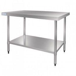 Mesas de trabajo cocina de acero inoxidable con fondo de 700 mm ...