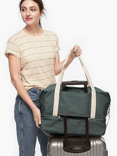 The Catalina Deluxe - Washed Canvas - Dove Grey   Tabi   Pinterest   Small small, Weekender and ...