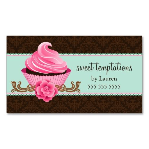 Couture Cupcake Bakery Business Cards Make your own business card