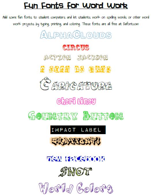 16 Free Elementary School Fonts · 1001 Fonts