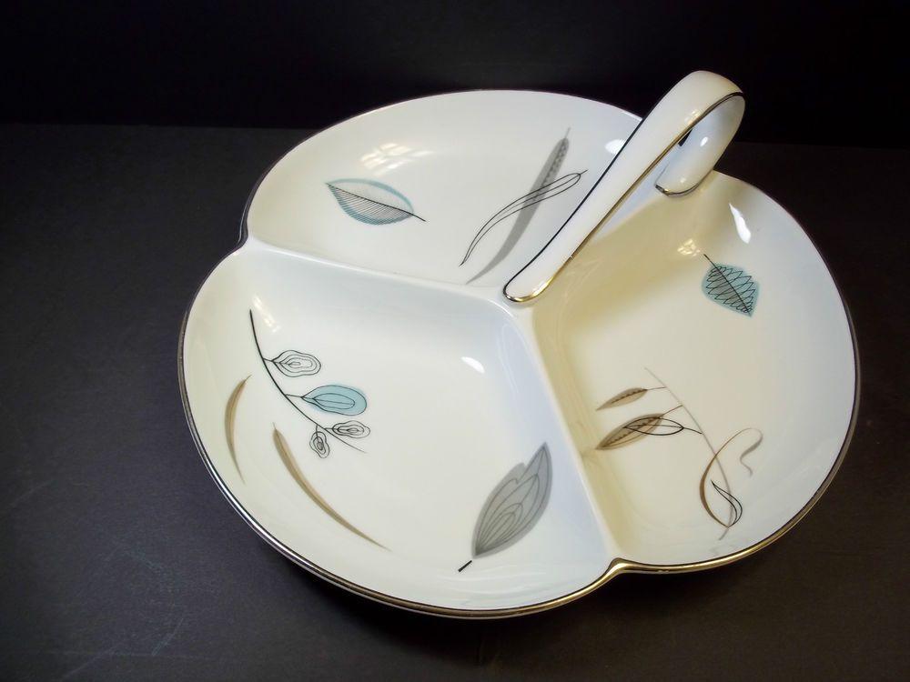 Dinnerware & Noritake china Handled 3 part Relish ided dish Pattern #1358 MIJ ...