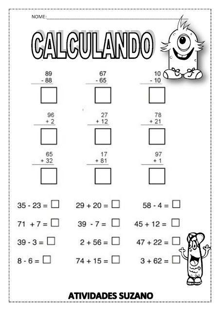 Calculando 2 Atividades Pedagogicas Atividades De Matematica