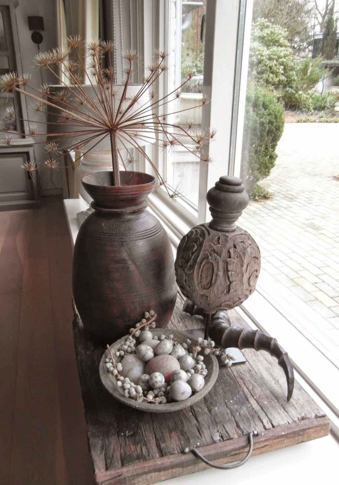 vensterbank... | decoratie woonkamer | Pinterest | Dekoration, Deko ...