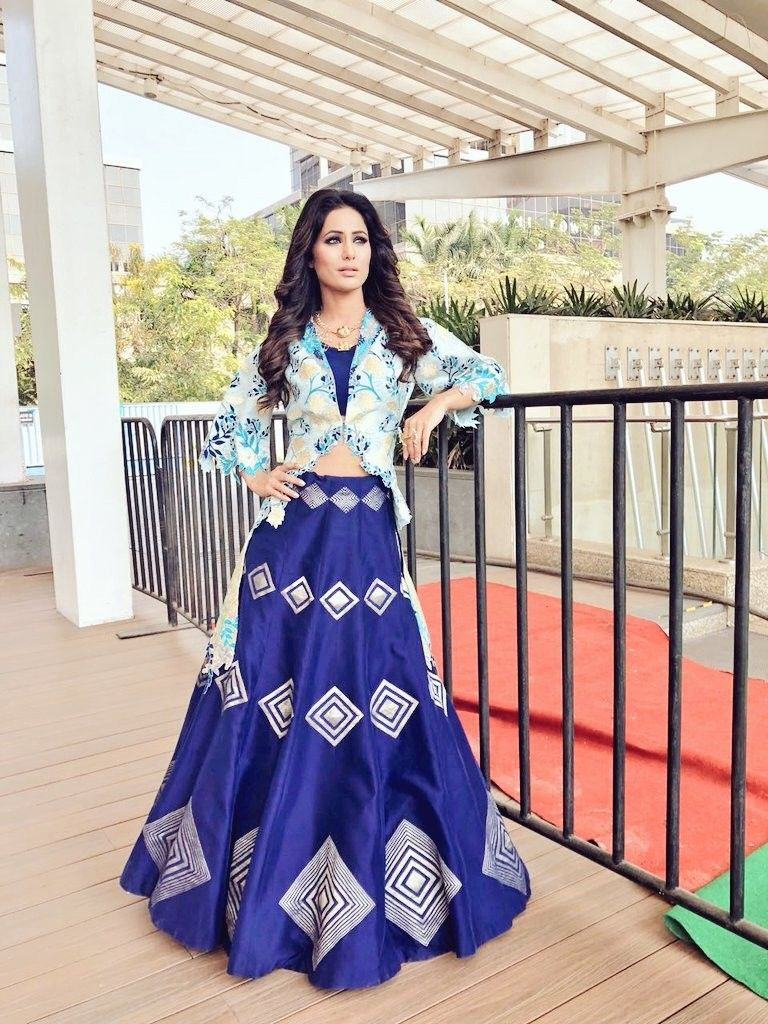 Beautiful Gorgeous Hina Khan Indi N Attires In 2018