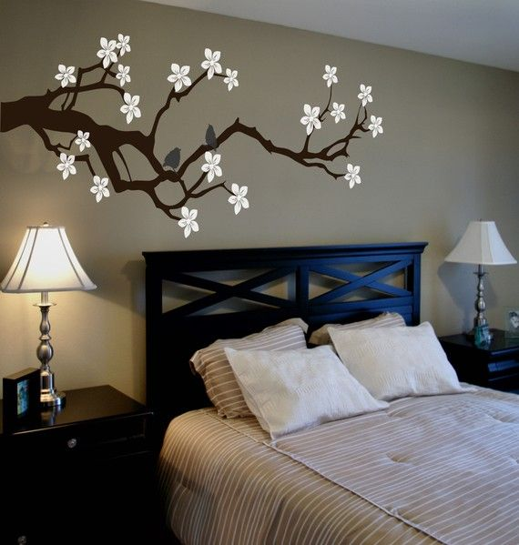Free Shipping Large Meadow Branch Wall Decal W By Lanakole On Etsy