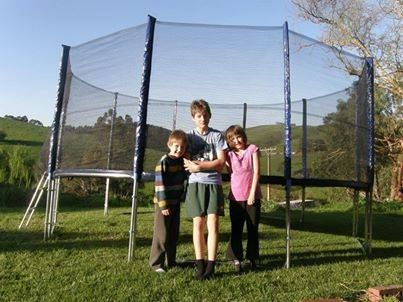 These 3 Clever Jump Stars Assembled Their Huge 16Ft Trampoline