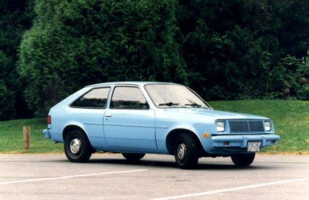 One Of My First Cars Blue 78 Chevy Chevette American Classic Cars First Cars Chevy