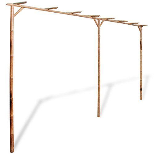 Vidaxl Bambus Pergola Rankhilfe Gartenspalier Rosenbogen Https