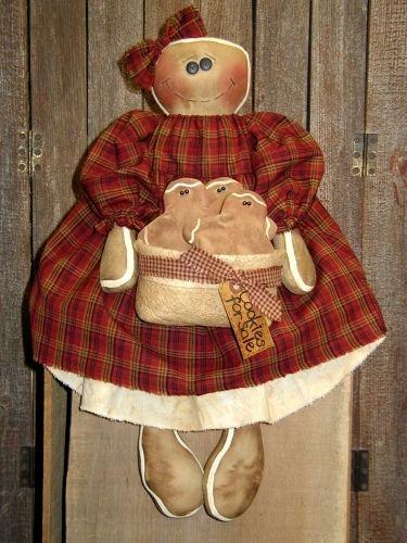 Primitive Raggedy Ann~Santa/'sFavoriteCookie~Pattern#105