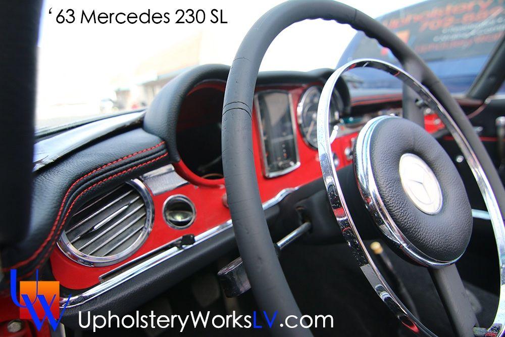 '63 Mercedes 230 SL full interior leather autoseats