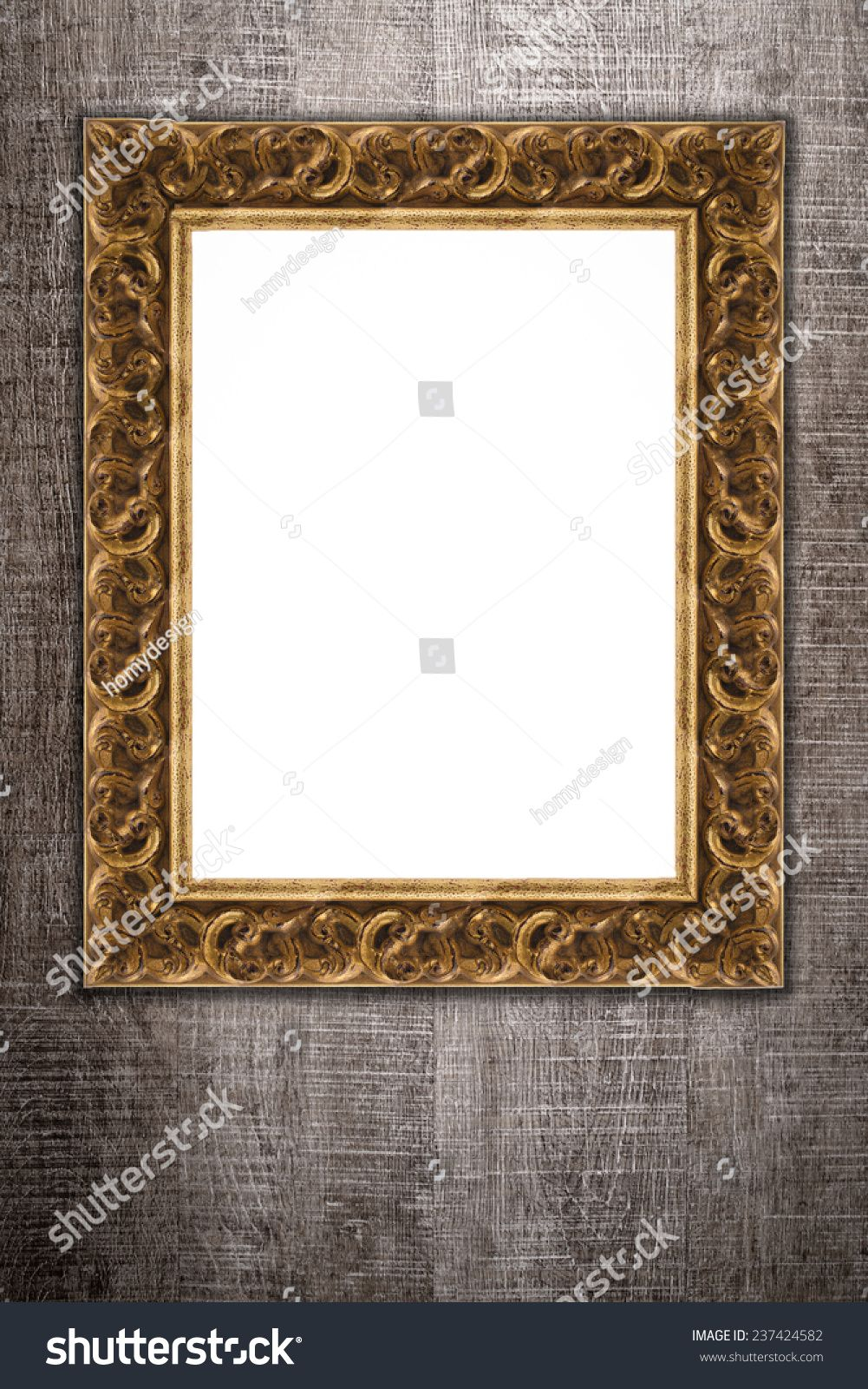Old Picture Frame On Vintage Wood Wall Ad Sponsored Frame Picture Vintage Wall In 2020 Old Picture Frames Frame Picture Frames