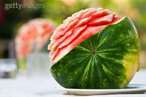 saw lots of these fruit sculptures in Thailand :)
