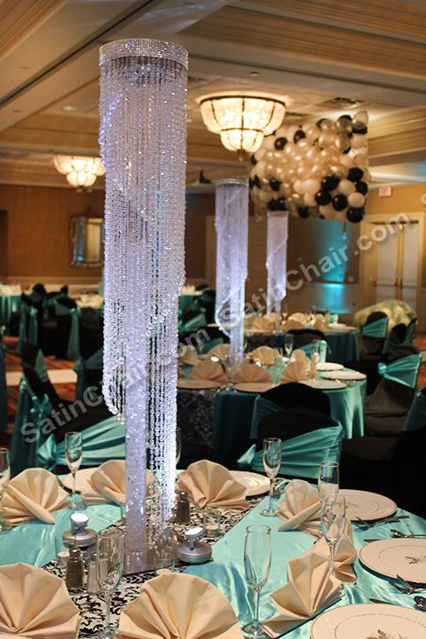 Rent This 4 Foot Tall Crystal Spiral Tower Lighted Centerpiece And Make Your