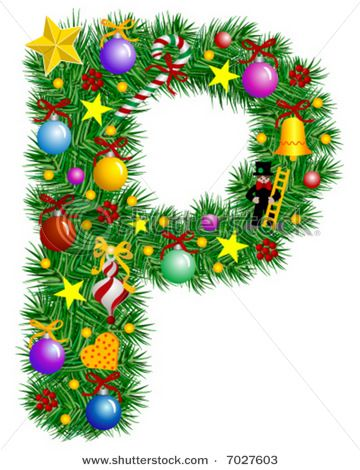 Letter P Christmas Tree Christmas Lettering Christmas Alphabet Christmas Fonts