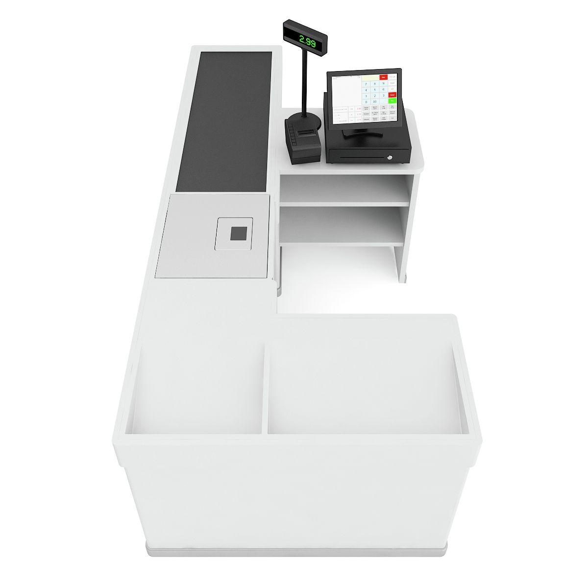 Cashier Desk  Grocery store design, Supermarket design, Store