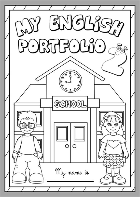 My English Portfolio 2 - Cover (B&W version)   Homeschool