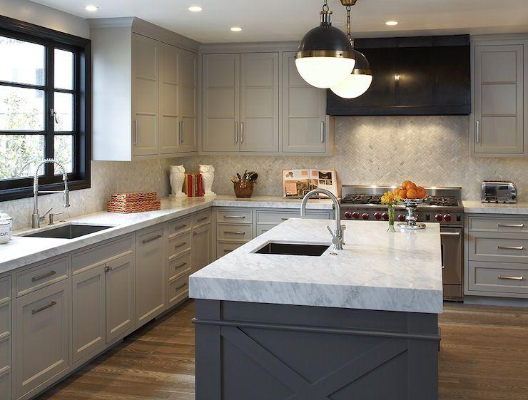 Light Grey And White Kitchen artistic designs for living - kitchens - hardwood floors, light